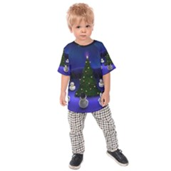 Waiting For The Xmas Christmas Kids  Raglan Tee