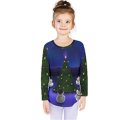 Waiting For The Xmas Christmas Kids  Long Sleeve Tee