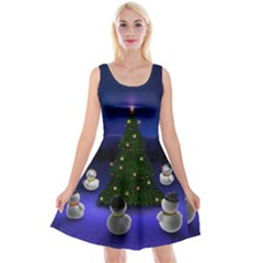 Waiting For The Xmas Christmas Reversible Velvet Sleeveless Dress