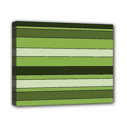 Greenery Stripes Pattern Horizontal Stripe Shades Of Spring Green Canvas 10  x 8