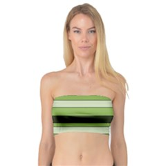 Greenery Stripes Pattern Horizontal Stripe Shades Of Spring Green Bandeau Top