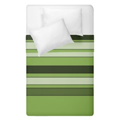 Greenery Stripes Pattern Horizontal Stripe Shades Of Spring Green Duvet Cover Double Side (Single Size)