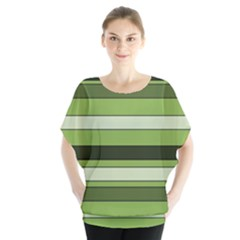 Greenery Stripes Pattern Horizontal Stripe Shades Of Spring Green Blouse