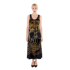 Virus Computer Encryption Trojan Sleeveless Maxi Dress