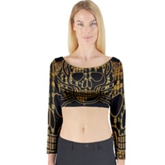 Virus Computer Encryption Trojan Long Sleeve Crop Top