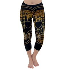Virus Computer Encryption Trojan Capri Winter Leggings