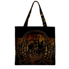 Virus Computer Encryption Trojan Zipper Grocery Tote Bag