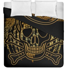 Virus Computer Encryption Trojan Duvet Cover Double Side (King Size)
