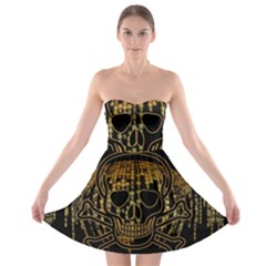 Virus Computer Encryption Trojan Strapless Bra Top Dress