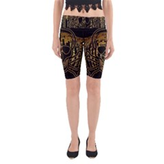 Virus Computer Encryption Trojan Yoga Cropped Leggings
