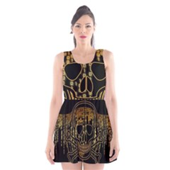Virus Computer Encryption Trojan Scoop Neck Skater Dress