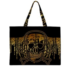 Virus Computer Encryption Trojan Large Tote Bag
