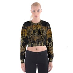 Virus Computer Encryption Trojan Women s Cropped Sweatshirt