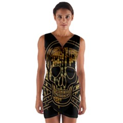 Virus Computer Encryption Trojan Wrap Front Bodycon Dress
