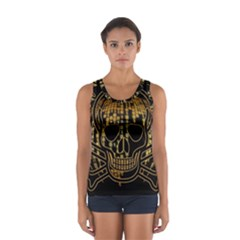 Virus Computer Encryption Trojan Women s Sport Tank Top