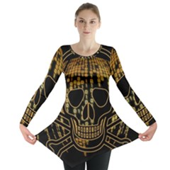 Virus Computer Encryption Trojan Long Sleeve Tunic