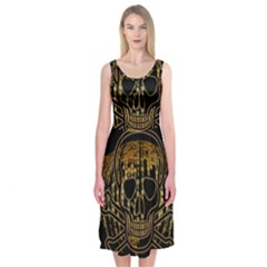 Virus Computer Encryption Trojan Midi Sleeveless Dress