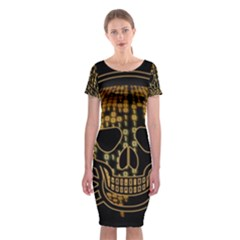 Virus Computer Encryption Trojan Classic Short Sleeve Midi Dress