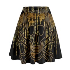 Virus Computer Encryption Trojan High Waist Skirt