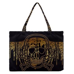 Virus Computer Encryption Trojan Medium Zipper Tote Bag