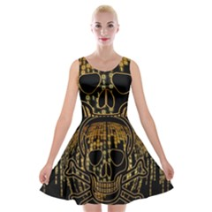 Virus Computer Encryption Trojan Velvet Skater Dress