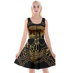 Virus Computer Encryption Trojan Reversible Velvet Sleeveless Dress