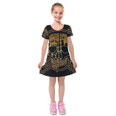 Virus Computer Encryption Trojan Kids  Short Sleeve Velvet Dress