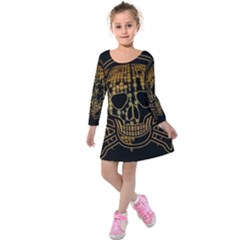Virus Computer Encryption Trojan Kids  Long Sleeve Velvet Dress