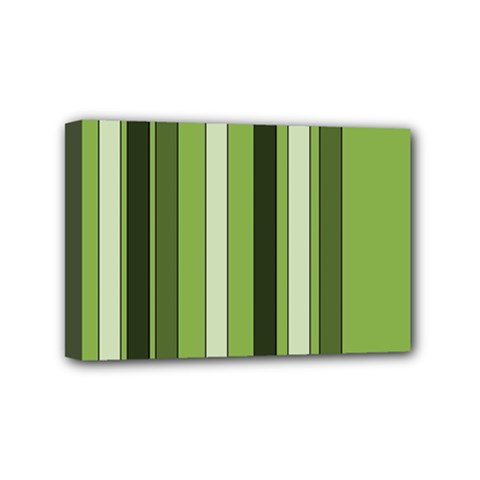 Greenery Stripes Pattern 8000 Vertical Stripe Shades Of Spring Green Color Mini Canvas 6  x 4