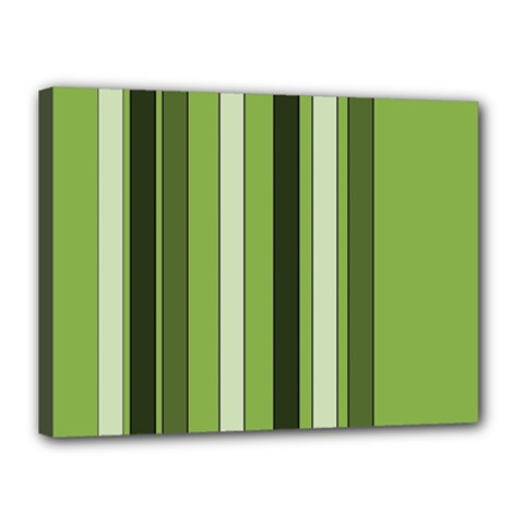 Greenery Stripes Pattern 8000 Vertical Stripe Shades Of Spring Green Color Canvas 16  x 12