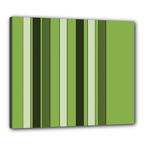 Greenery Stripes Pattern 8000 Vertical Stripe Shades Of Spring Green Color Canvas 24  x 20