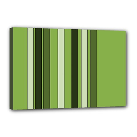 Greenery Stripes Pattern 8000 Vertical Stripe Shades Of Spring Green Color Canvas 18  x 12
