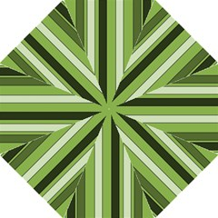 Greenery Stripes Pattern 8000 Vertical Stripe Shades Of Spring Green Color Straight Umbrellas