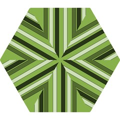 Greenery Stripes Pattern 8000 Vertical Stripe Shades Of Spring Green Color Mini Folding Umbrellas