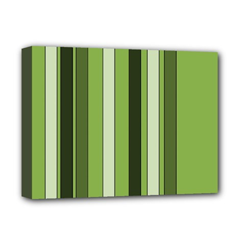 Greenery Stripes Pattern 8000 Vertical Stripe Shades Of Spring Green Color Deluxe Canvas 16  x 12