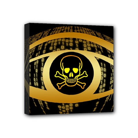 Virus Computer Encryption Trojan Mini Canvas 4  x 4