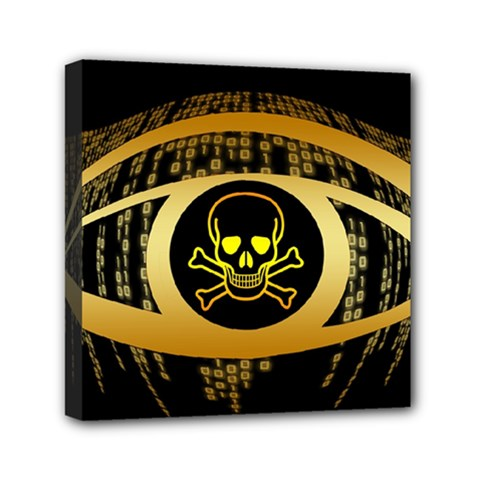 Virus Computer Encryption Trojan Mini Canvas 6  x 6