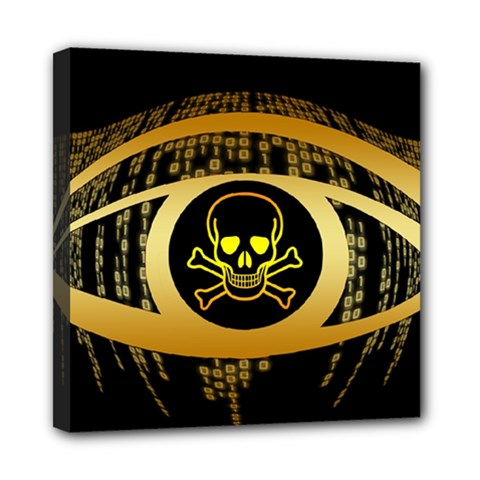Virus Computer Encryption Trojan Mini Canvas 8  x 8