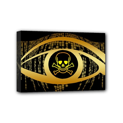 Virus Computer Encryption Trojan Mini Canvas 6  x 4