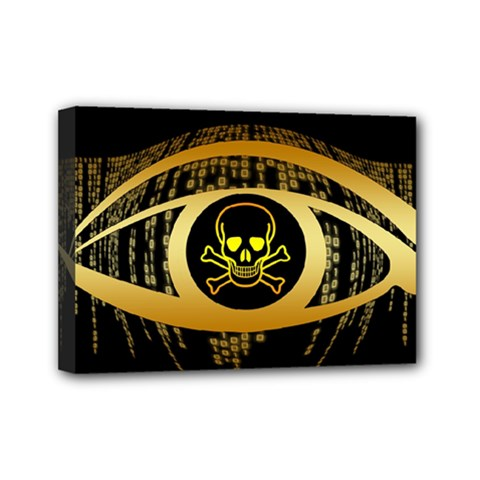 Virus Computer Encryption Trojan Mini Canvas 7  x 5