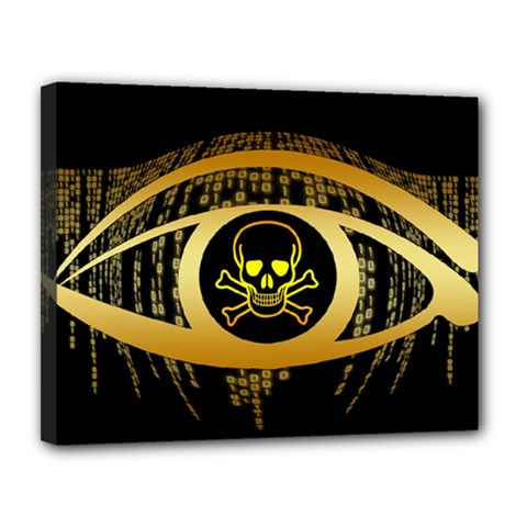 Virus Computer Encryption Trojan Canvas 14  x 11