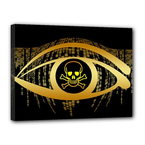 Virus Computer Encryption Trojan Canvas 16  x 12