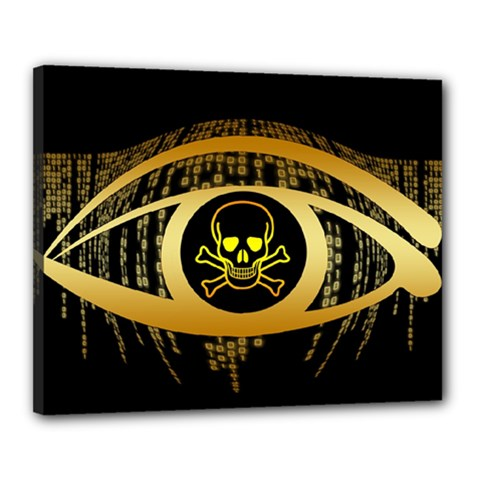 Virus Computer Encryption Trojan Canvas 20  x 16