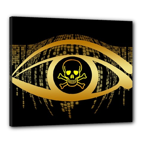 Virus Computer Encryption Trojan Canvas 24  x 20