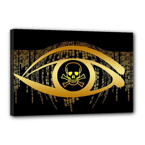 Virus Computer Encryption Trojan Canvas 18  x 12