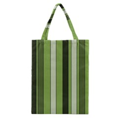 Greenery Stripes Pattern 8000 Vertical Stripe Shades Of Spring Green Color Classic Tote Bag