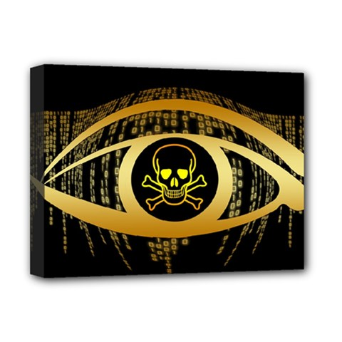 Virus Computer Encryption Trojan Deluxe Canvas 16  x 12