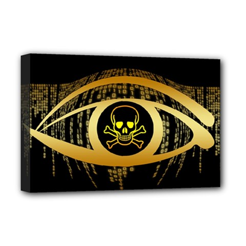 Virus Computer Encryption Trojan Deluxe Canvas 18  x 12