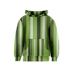 Greenery Stripes Pattern 8000 Vertical Stripe Shades Of Spring Green Color Kids  Pullover Hoodie