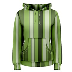 Greenery Stripes Pattern 8000 Vertical Stripe Shades Of Spring Green Color Women s Pullover Hoodie